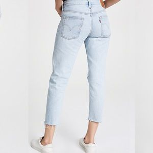 Levi's Jeans - Levi's 501 Wedgie DIY Cropped Taper Jeans Big E